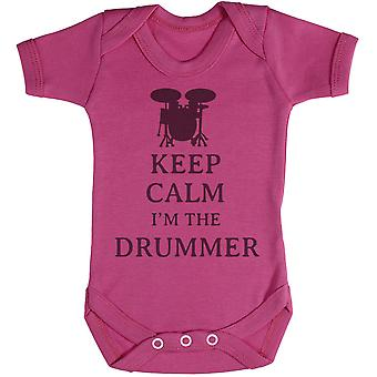 Keep Calm I'm The Drummer - Baby Bodysuit