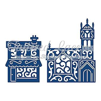 Tattered Lace Panorama houses,shop,tree church or street die price per pack