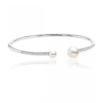 Luna-Pearls - Bracelet - Pearl Bracelet - White Gold 750 Freshwater Breeding Bead