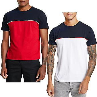 Brave Soul Mens Stanley lyhythihainen rento säännöllinen Crew Neck T-paita tee alkuun