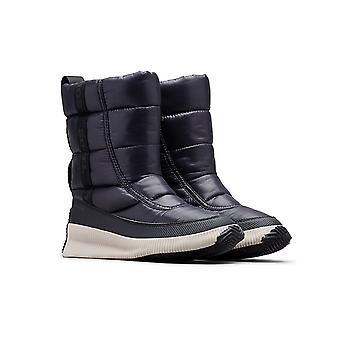 Sorel Out N About Mid Puff Shiny Black