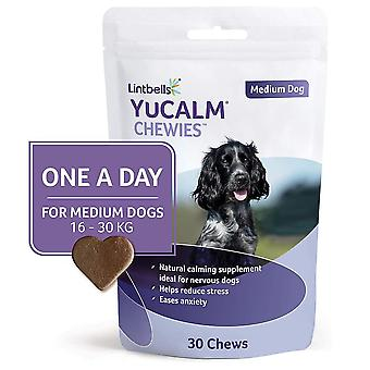 Lintbells YuCALM ONE-A-DAY Medium Chewies For Dogs, Pack of 30 Chews, 1-Month Supply