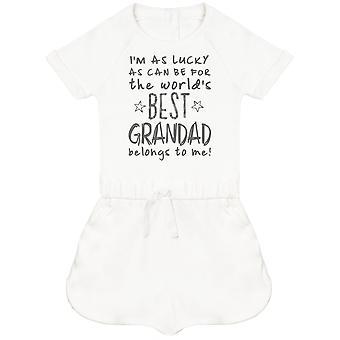I'm Come fortunato come può essere migliore nonno appartiene a me! Tuta per bambini