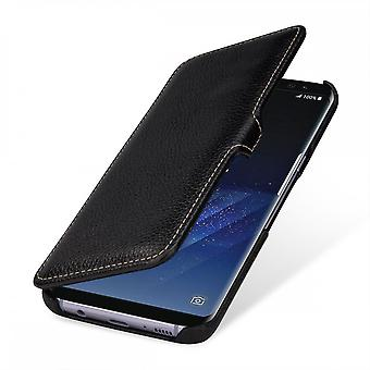 Case For Samsung Galaxy S8 Plus Book Type Black In True Leather