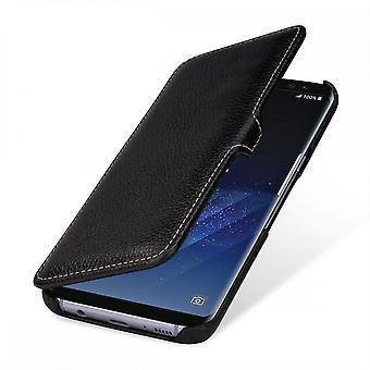 Etui Pour Samsung Galaxy S8 Plus Book Type Noir En Cuir Véritable