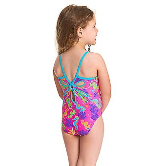 Zoggs Girls Sea Unicorn Yaroomba Floral One Piece Swimsuit - Multi