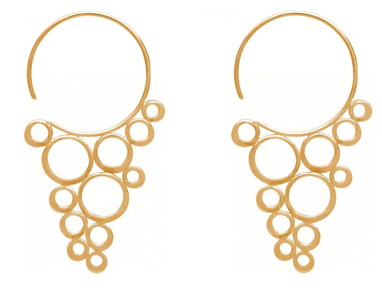 GEMSHINE Ohrringe CHAMPAGNER BUBBLES 925 Silber, vergoldet oder rose