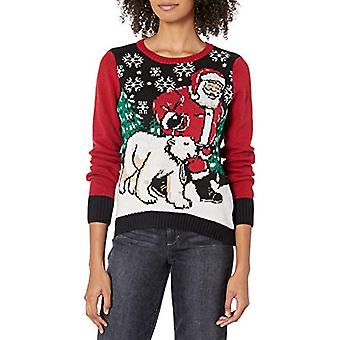 Ugly Christmas Sweater Company Pullover Xmas Sweaters Multi-Colored LED Flash...
