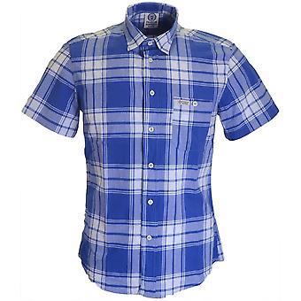 Franklin & Marshall Al318 Hollywood Single Check Blue Shirt