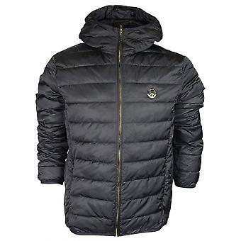 Love Moschino Polyester Light Puffer Hooded Black Jacket