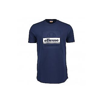 Ellesse Adamello Navy bomull T-skjorte