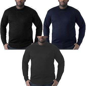 Duke D555 Medwin Mens Plain Classic Crew Neck Pullover Jumper Sweater Top