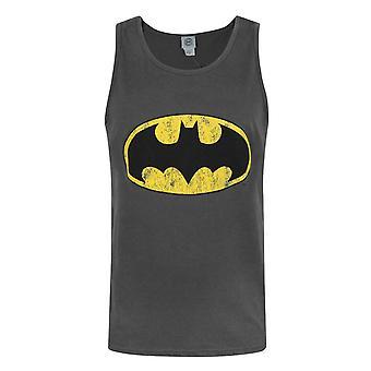 Batman Distressed Logo Men's Vest