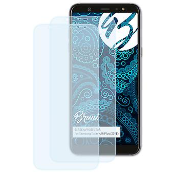 Bruni 2x Screen Protector compatible with Samsung Galaxy A6 Plus (2018) Protective Film