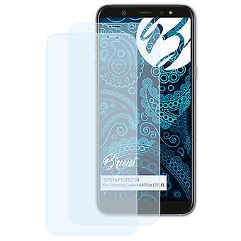 Bruni 2x Película Protectora compatible con Samsung Galaxy A6 Plus (2018) Lámina Protectora