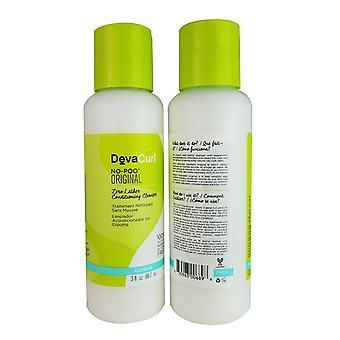 Devacurl no-poo original 3 oz set of 2 bottles for the hair