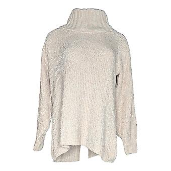 Anybody Women's Sweater Chenille Cowl Neck Pink A379467