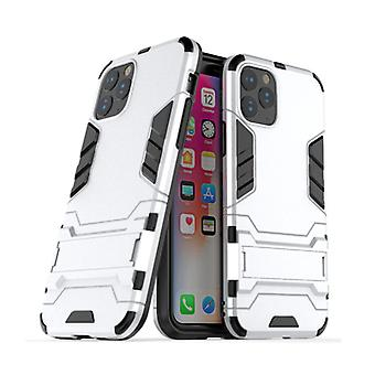 HATOLY iPhone 11 Pro Max - Robotic Armor Case Cover Cas TPU Case White + Kickstand