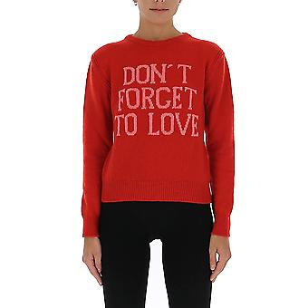 Alberta Ferretti 09421603j1114 Women's Red Cashmere Sweater