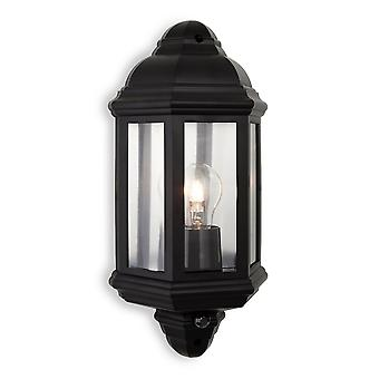 Firstlight Jaded Traditional Black Flush Garden Wall Lantern