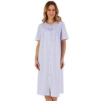 スレンダーラ ND55103 ウィメンズ&アポス;フローラル コットン ナイトドレス