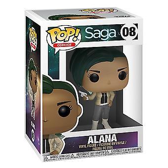 Funko Pop! Vinil Comics Saga Alana com arma de figura colecionável #08