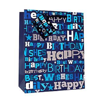 Simon Elvin Happy Birthday Foil Gift Bags (Pack of 6)