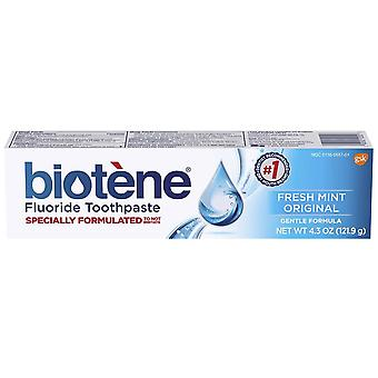 Biotene fluoride toothpaste, fresh mint original, 4.3 oz