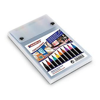 edding-1340 ass. brushpen 10PC / 4-1340-10