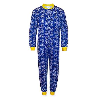 Everton FC Officiel Football Gift Boys Kids Pyjama All-In-One