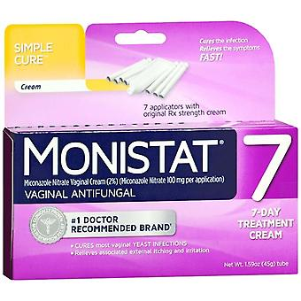 Monistat 7 vaginal antifungal cream, 1 kit