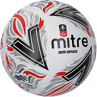 Mitre Delta FA Replica Football Soccer Ball White/Black/Red