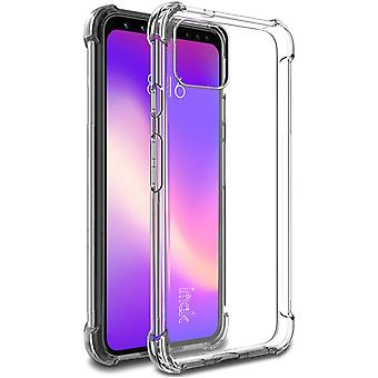 Para Google Pixel 4 IMAK All-inclusive Shockproof Airbag TPU Case, Clear