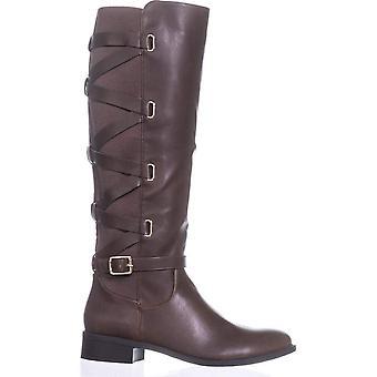 Thalia Sodi Womens Veronika couro redondo Toe joelho botas de alta moda