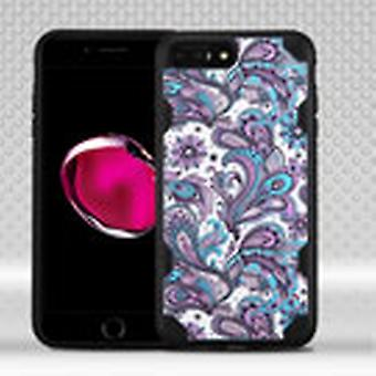 ASMYNA Chali-Image Case for iPhone 8/7 Plus - Purple European Flowers/Black
