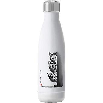 The Curious Three Cats Insulated Stainless Steel Water Bottle