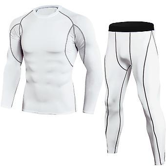 Allthemen Men's Round Neck Stretch Quick-Drying Sport Costum
