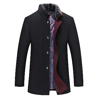 Allthemen Men's Solid Warm Wool Coat Outwear Overcoat