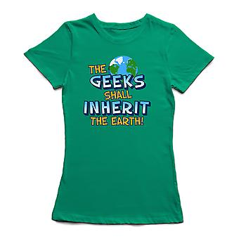 The Geeks Shall Inherit Graphic Quote Women's T-shirt