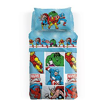 Panama bedspread of Cotton Square and Half Super Heroes Marvel Caleffi