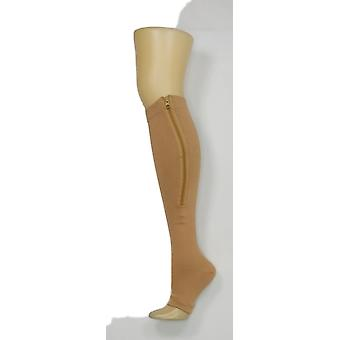 North Style Women's Open Toe High Camel Beige Socks PTC