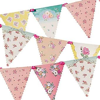 Vintage Floral Paper Bunting 4m Alice Themed Wedding Tea Party!