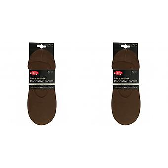 Silky Mens Invisible Cotton Rich Footlets / Trainer Socks (1 Pair)