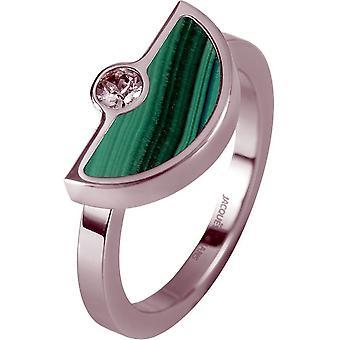 Jacques Lemans - Ring med malakit - S-R67B56 - Ring bredd: 56
