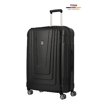 TITAN X-Ray Trolley L, 4 hjul, 77 cm, 102 L, Sort