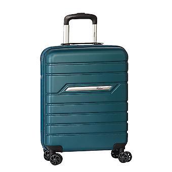 Fabrizio Worldpack Runway Mano Bagaglio Trolley S, 4 Ruote, 55 cm, 38 L, Blu