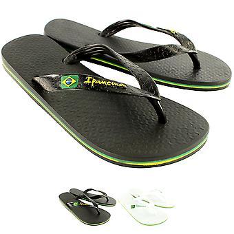 Womens iPanema Brasil II Flip Flop Slip på Summer Holiday Beach sandaler