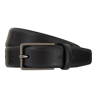 Strellson belts men's belts leather belt black 1708