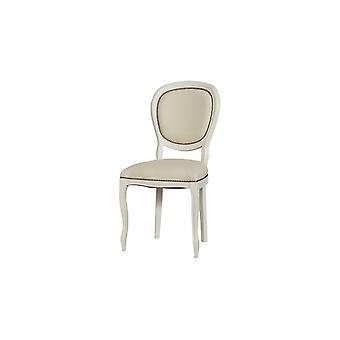 Sedia Dioniso Colore Avorio, Beige in Legno, L50xP50xA95 cm