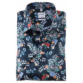 OLYMP Olymp Flower Print Summer Short Sleeve Casual Shirt